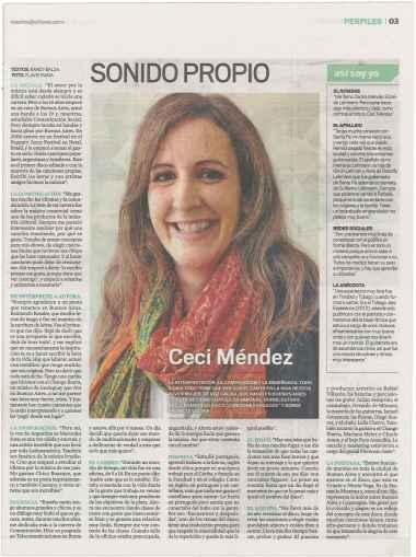 Entrevista Revista Nosotros del Diario El Litoral Pag 3 Fecha 15-11-14