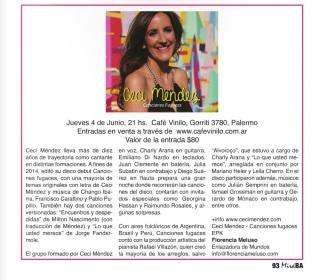 Mira BA Ceci Mendez Junio 2014