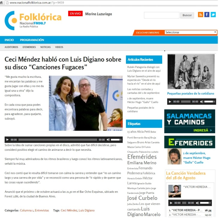 Radio Nacional Folklorica online