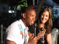 TV Interview the night before playing at the Tobago Jazz Experience 2012