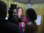 Another TV Interview after playing at the Tobago Jazz Experience 2012