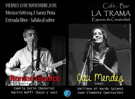 Flyer La Trama Roman Ceci 13 Nov 2015